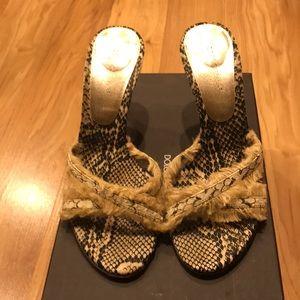 Dolce & Gabbana Snakeskin Slip On Sandals